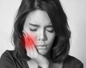 Sensitivity pain due to stress
