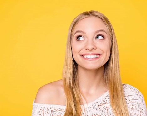 a patient smiling